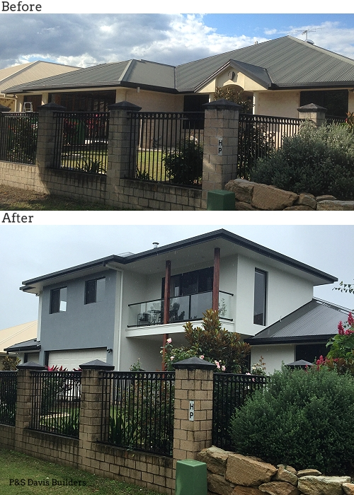 Brisbane first floor extension before after